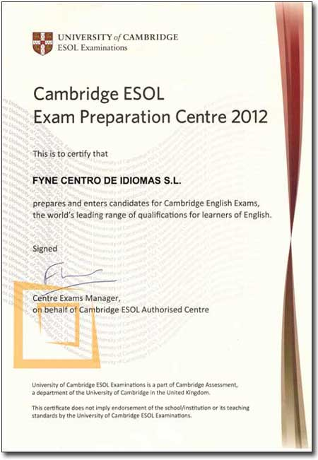 FYNE Preparación del examen oficial FCE (First Certificate in English)