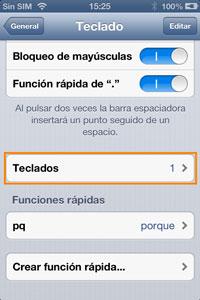 Ventana iPhone: Teclados
